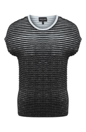 Женский пуловер из вискозы GIORGIO ARMANI черного цвета, арт. 3KAM03/AM18Z | Фото 1