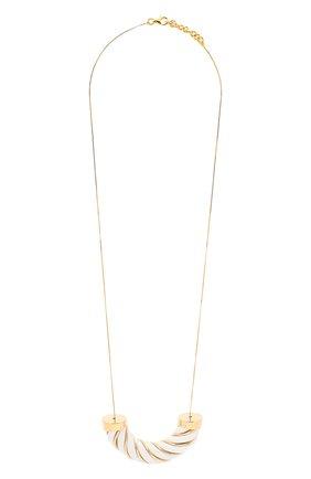 Женское колье BOTTEGA VENETA белого цвета, арт. 636834/VAHUA | Фото 1