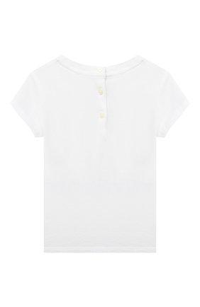 Детский хлопковая футболка RALPH LAUREN белого цвета, арт. 310799106 | Фото 2