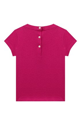 Детский хлопковая футболка RALPH LAUREN фуксия цвета, арт. 310802624 | Фото 2