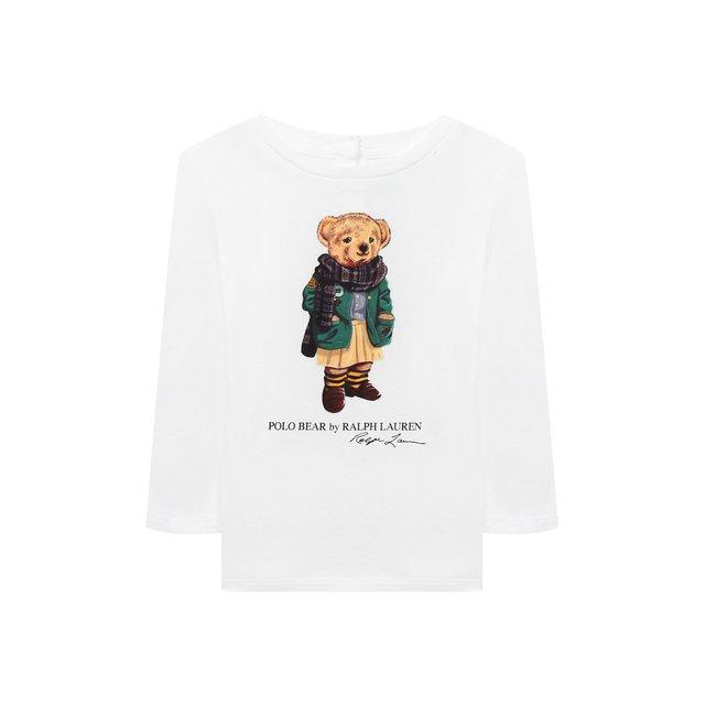 Хлопковая футболка Ralph Lauren. Цвет: белый