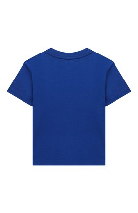 Детский хлопковая футболка RALPH LAUREN синего цвета, арт. 320799045 | Фото 2