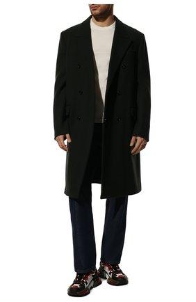 Мужская хлопковая футболка BOTTEGA VENETA белого цвета, арт. 649055/VF1U0 | Фото 2