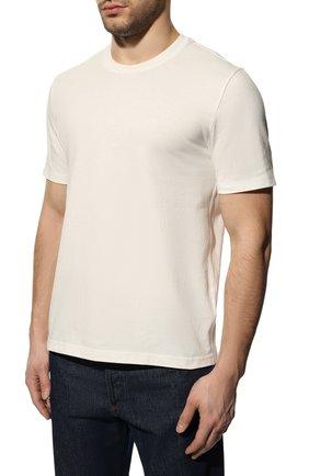 Мужская хлопковая футболка BOTTEGA VENETA белого цвета, арт. 649055/VF1U0 | Фото 3 (Принт: Без принта; Рукава: Короткие; Длина (для топов): Стандартные; Мужское Кросс-КТ: Футболка-одежда; Материал внешний: Хлопок; Стили: Минимализм)