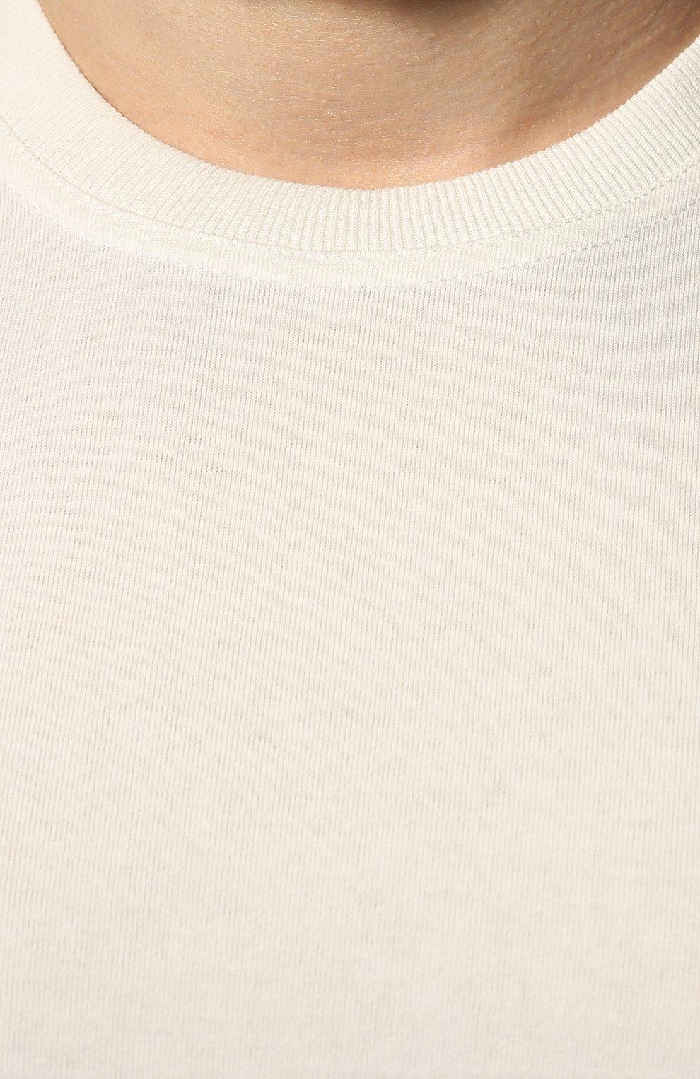 Мужская хлопковая футболка BOTTEGA VENETA белого цвета, арт. 649055/VF1U0 | Фото 5 (Принт: Без принта; Рукава: Короткие; Длина (для топов): Стандартные; Мужское Кросс-КТ: Футболка-одежда; Материал внешний: Хлопок; Стили: Минимализм)