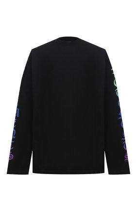 Мужская хлопковый лонгслив VETEMENTS черного цвета, арт. UE51TR660B 1613/M | Фото 1