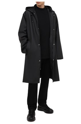 Мужская хлопковый лонгслив VETEMENTS черного цвета, арт. UE51TR660B 1613/M | Фото 2
