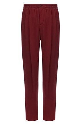 Мужские брюки GIORGIO ARMANI бордового цвета, арт. 1SGPP0HS/T00AB | Фото 1 (Материал внешний: Купро; Случай: Повседневный; Стили: Кэжуэл; Длина (брюки, джинсы): Стандартные)