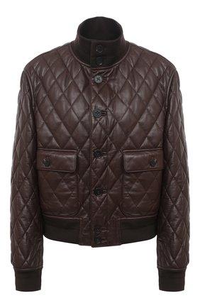 Женская кожаная куртка RALPH LAUREN коричневого цвета, арт. 290820356 | Фото 1