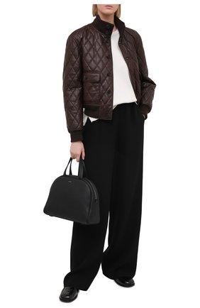 Женская кожаная куртка RALPH LAUREN коричневого цвета, арт. 290820356 | Фото 2