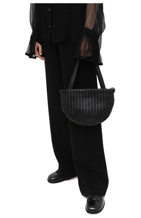 Женская сумка BOTTEGA VENETA черного цвета, арт. 651811/V08Z1 | Фото 2