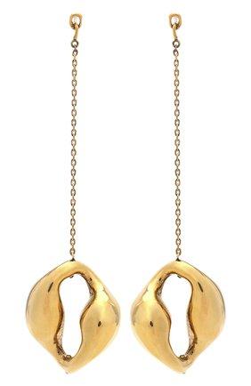Женские серьги CHLOÉ золотого цвета, арт. CHC20WFE92CP8 | Фото 1 (Материал: Металл)