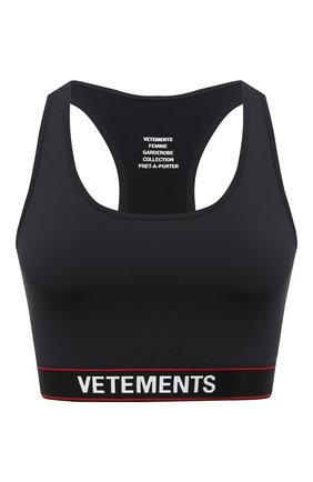 Женская топ VETEMENTS черного цвета, арт. WE51T0100B 1332/BLACK   Фото 1