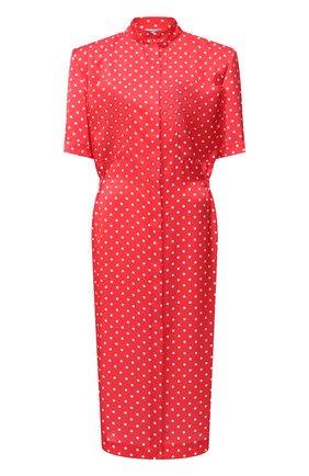 Женское платье VETEMENTS красного цвета, арт. WE51DR100R 2607/RED/WHITE | Фото 1