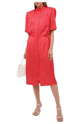 Женское платье VETEMENTS красного цвета, арт. WE51DR100R 2607/RED/WHITE | Фото 2