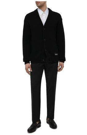 Мужские кожаные пенни-лоферы PRADA черного цвета, арт. 2DC213-053-F0002-G000   Фото 2