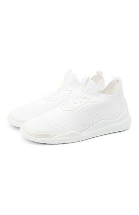 Мужские кроссовки toblach techno knit lr PRADA белого цвета, арт. 4E3536-3KFP-F0009 | Фото 1