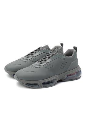 Мужские кроссовки collision 19 lr PRADA серого цвета, арт. 4E3540-2OFM-F0276 | Фото 1 (Стили: Гранж; Подошва: Массивная; Материал внешний: Текстиль)