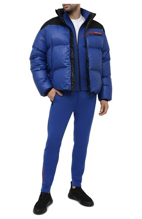Мужская пуховая куртка PRADA синего цвета, арт. SGX257-1T2Y-F0ZVE-202   Фото 2
