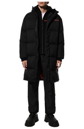Мужские кожаные сапоги PRADA черного цвета, арт. 2UE014-3A6N-F0002-A000 | Фото 2