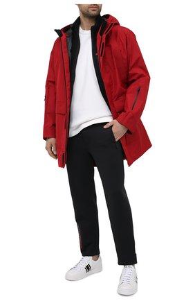 Мужские брюки PRADA черного цвета, арт. SJP305-LJ4-F0002-202 | Фото 2 (Материал внешний: Синтетический материал; Стили: Минимализм; Случай: Повседневный)