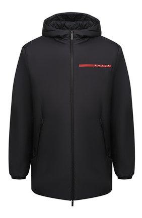 Мужская утепленная куртка PRADA черного цвета, арт. SGB585-1XYW-F0002-202   Фото 1
