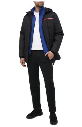 Мужская утепленная куртка PRADA черного цвета, арт. SGB585-1XYW-F0002-202   Фото 2