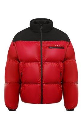 Мужская пуховая куртка PRADA красного цвета, арт. SGX257-1T2Y-F0927-202 | Фото 1