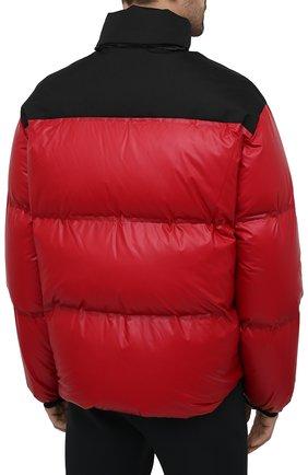 Мужская пуховая куртка PRADA красного цвета, арт. SGX257-1T2Y-F0927-202 | Фото 4 (Кросс-КТ: Куртка; Мужское Кросс-КТ: пуховик-короткий; Рукава: Длинные; Материал внешний: Синтетический материал; Длина (верхняя одежда): Короткие; Стили: Минимализм)