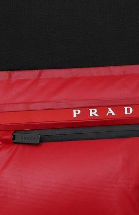 Мужская пуховая куртка PRADA красного цвета, арт. SGX257-1T2Y-F0927-202 | Фото 5 (Кросс-КТ: Куртка; Мужское Кросс-КТ: пуховик-короткий; Рукава: Длинные; Материал внешний: Синтетический материал; Длина (верхняя одежда): Короткие; Стили: Минимализм)