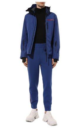Мужские джоггеры PRADA синего цвета, арт. SJP292-LJ4-F0C2V-202   Фото 2