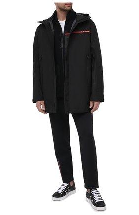 Мужской плащ PRADA черного цвета, арт. SGB641-1XV1-F0002-202 | Фото 2
