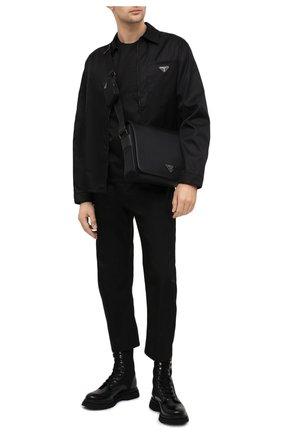 Мужская сумка PRADA черного цвета, арт. 2VD039-5ECO-F0002-WOO | Фото 2