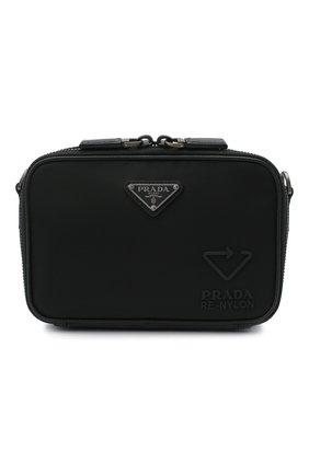 Мужская сумка PRADA черного цвета, арт. 2VH070-5ECO-F0002-EMF | Фото 1