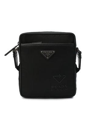 Мужская сумка PRADA черного цвета, арт. 2VH112-5ECO-F0002-WOO | Фото 1