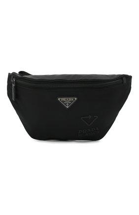 Мужская поясная сумка PRADA черного цвета, арт. 2VL033-5ECO-F0002-OOO | Фото 1