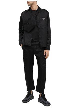 Мужская поясная сумка PRADA черного цвета, арт. 2VL033-5ECO-F0002-OOO | Фото 2