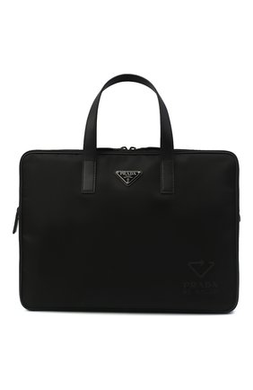 Мужская сумка для ноутбука PRADA черного цвета, арт. 2VE005-5ECO-F0002-MOO | Фото 1