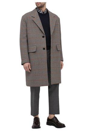 Мужской кожаные дерби PRADA коричневого цвета, арт. 2EF052-3F98-F0038-A000 | Фото 2