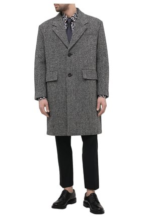 Мужской кожаные дерби PRADA черного цвета, арт. 2EF053-3F98-F0632-A000 | Фото 2