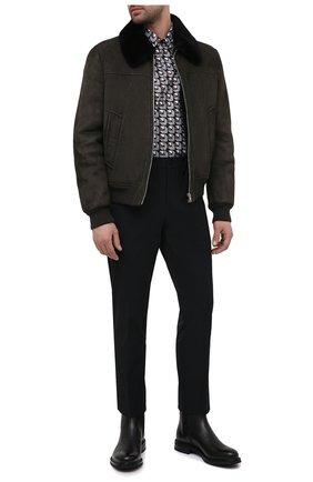 Мужские кожаные сапоги PRADA черного цвета, арт. 2TF030-3F98-F0632-A000 | Фото 2
