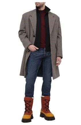 Мужской шерстяная водолазка PRADA бордового цвета, арт. UMR346-J2N-F0007-152 | Фото 2