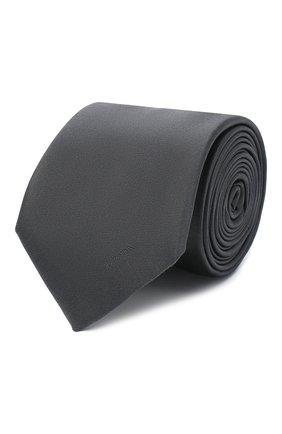Мужской шелковый галстук PRADA серого цвета, арт. UCR77-WCJ-F0R4Z-141 | Фото 1