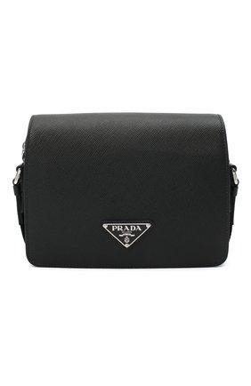 Мужская кожаная сумка PRADA черного цвета, арт. 2VD038-2FAD-F0002-OOO | Фото 1