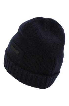 Мужская кашемировая шапка PRADA синего цвета, арт. UMD448-1KVZ-F0008-202 | Фото 2