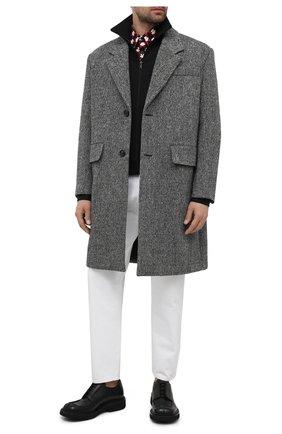 Мужской кожаные дерби PRADA черного цвета, арт. 2EG311-248-F0002 | Фото 2