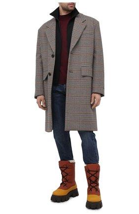 Мужские кожаные сапоги PRADA коричневого цвета, арт. 2UE014-3A6N-F0352-A000 | Фото 2