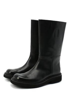Мужские кожаные сапоги PRADA черного цвета, арт. 2WG014-248-F0002 | Фото 1