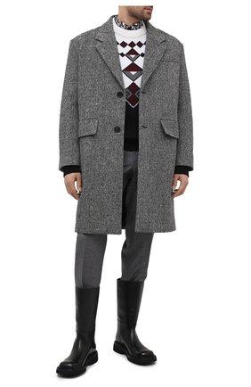 Мужские кожаные сапоги PRADA черного цвета, арт. 2WG014-248-F0002 | Фото 2