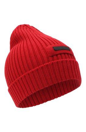 Мужская шерстяная шапка PRADA красного цвета, арт. UMD429-U97-F0011-192 | Фото 1
